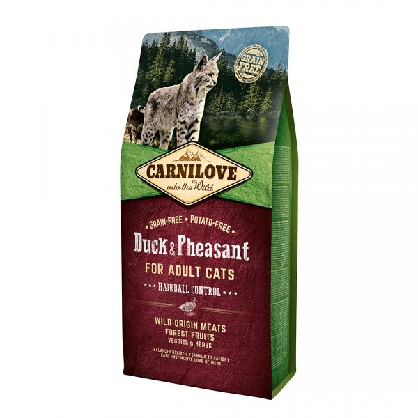 animalerie Carnilove Canard Faisan 6 Kg
