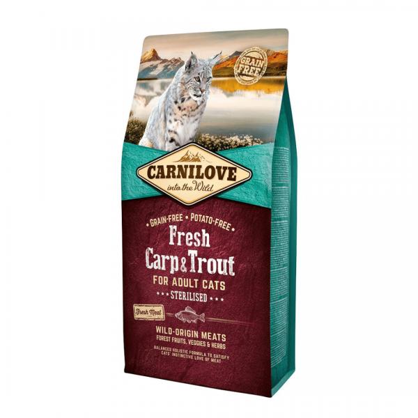 animalerie Carnilove Fresh Carpe Truite 6 Kg