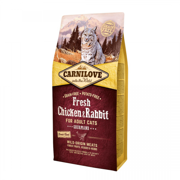animalerie Carnilove Fresh Poulet Lapin 6 Kg