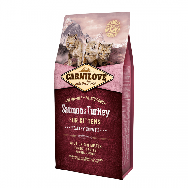 animalerie Carnilove Saumon Dinde 6 Kg
