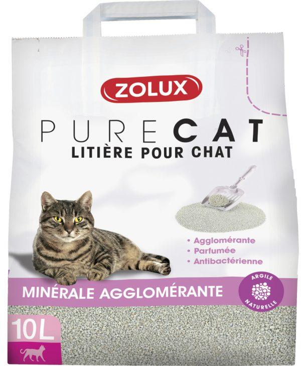 animalerie Zolux purecat agglo parf 10L 00059885
