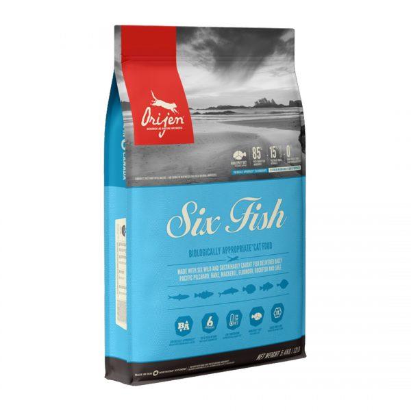 animalerie NS ORIJEN Six Fish Cat Front Right 5.4kg