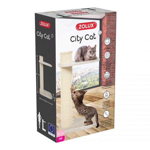 animalerie Zolux city cat 2 beige 00061164