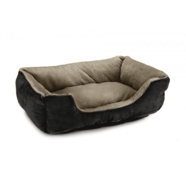 animalerie Distridog corbeille noir taupe 704812