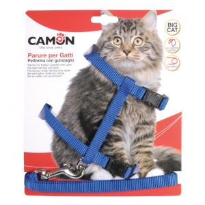 animalerie Distridog harnais grand chat DG020 bleu