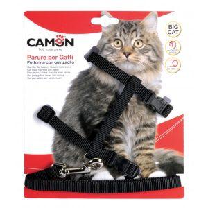 animalerie Distridog harnais grand chat DG020 noir
