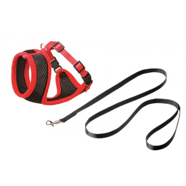 animalerie Distridog harnais noir rouge 28307 31364 31367